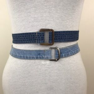 Bundle of Vintage Denim Belts